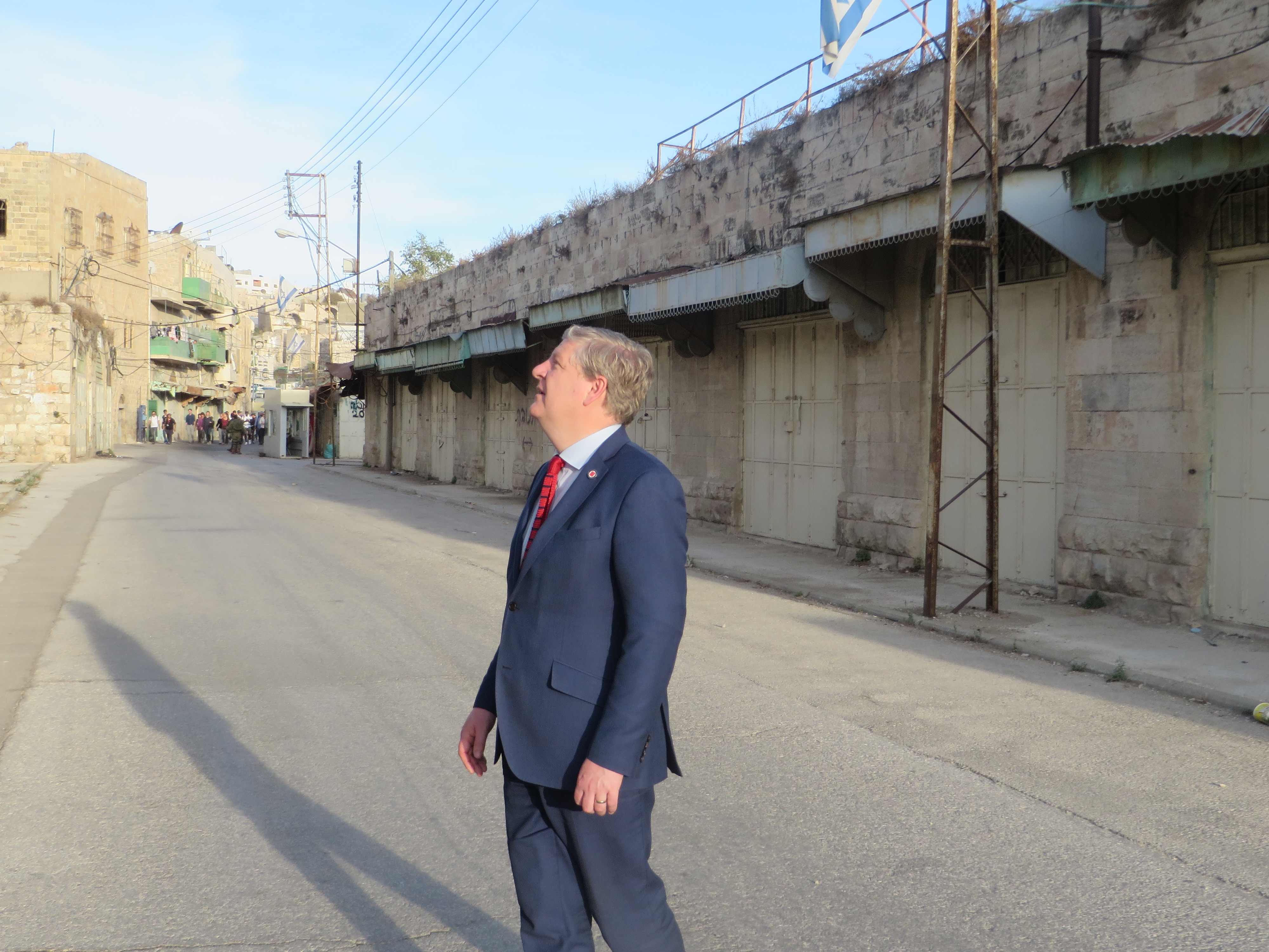 Angus Robertson MP in Hebron