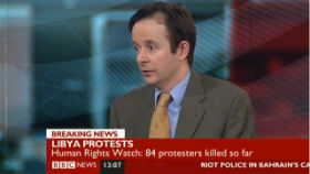 Chirs Doyle on BBC talking about Libya