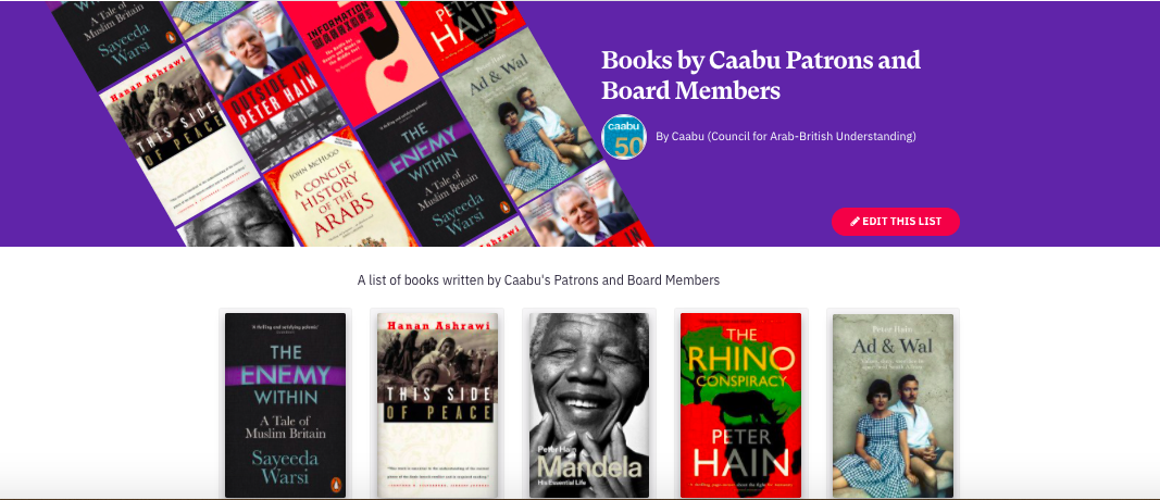Books by Caabu patrons and board members