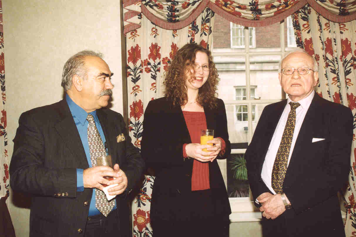 Mustapha Karkouti (left) with Gillian Watt and David Watkins