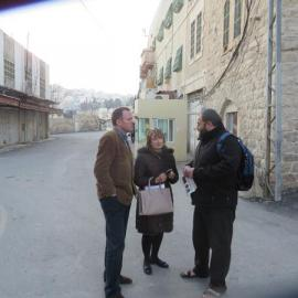 A Caabu delegation in Hebron