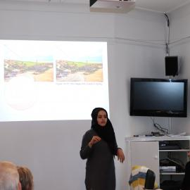 Briefing with researchers protecting cultural heritage in South Hebron Hills